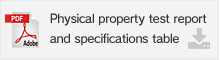 Physical property test report and specifications table